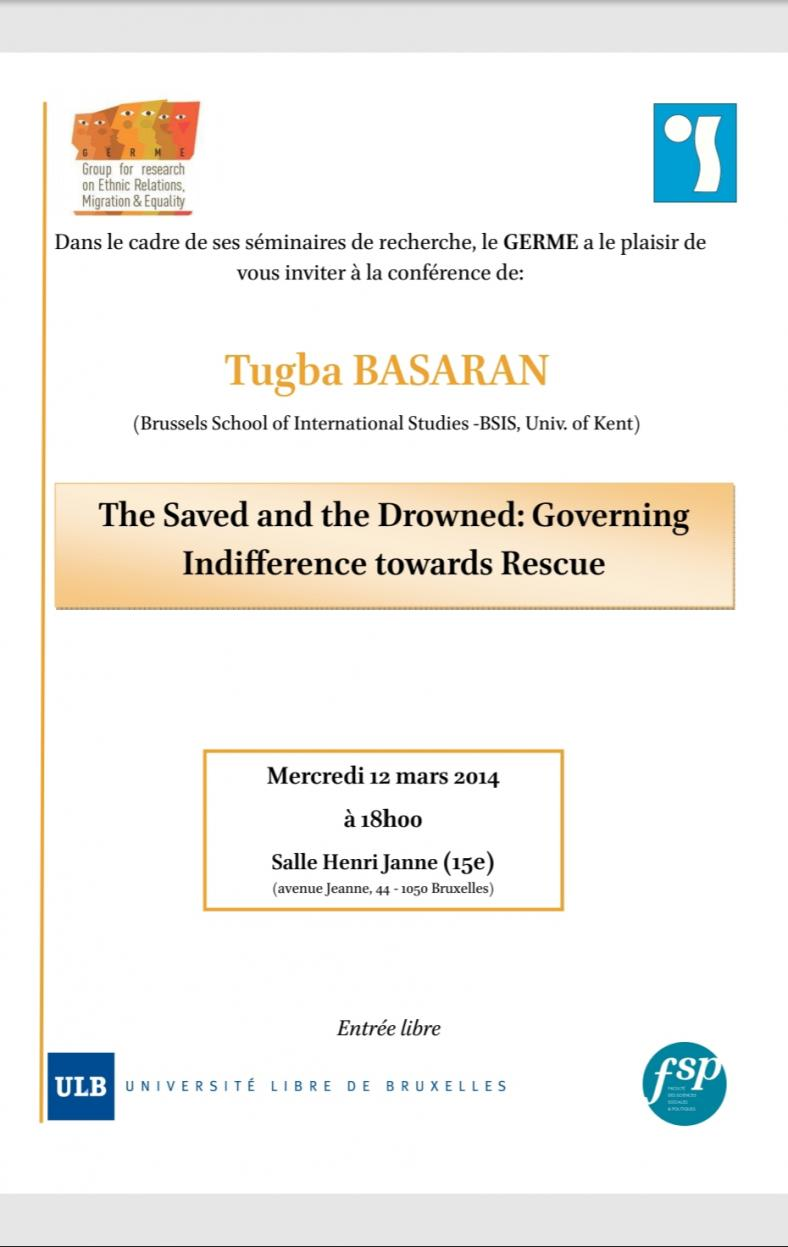 The Saved and the Drowned: Governing Indifference towards Rescue