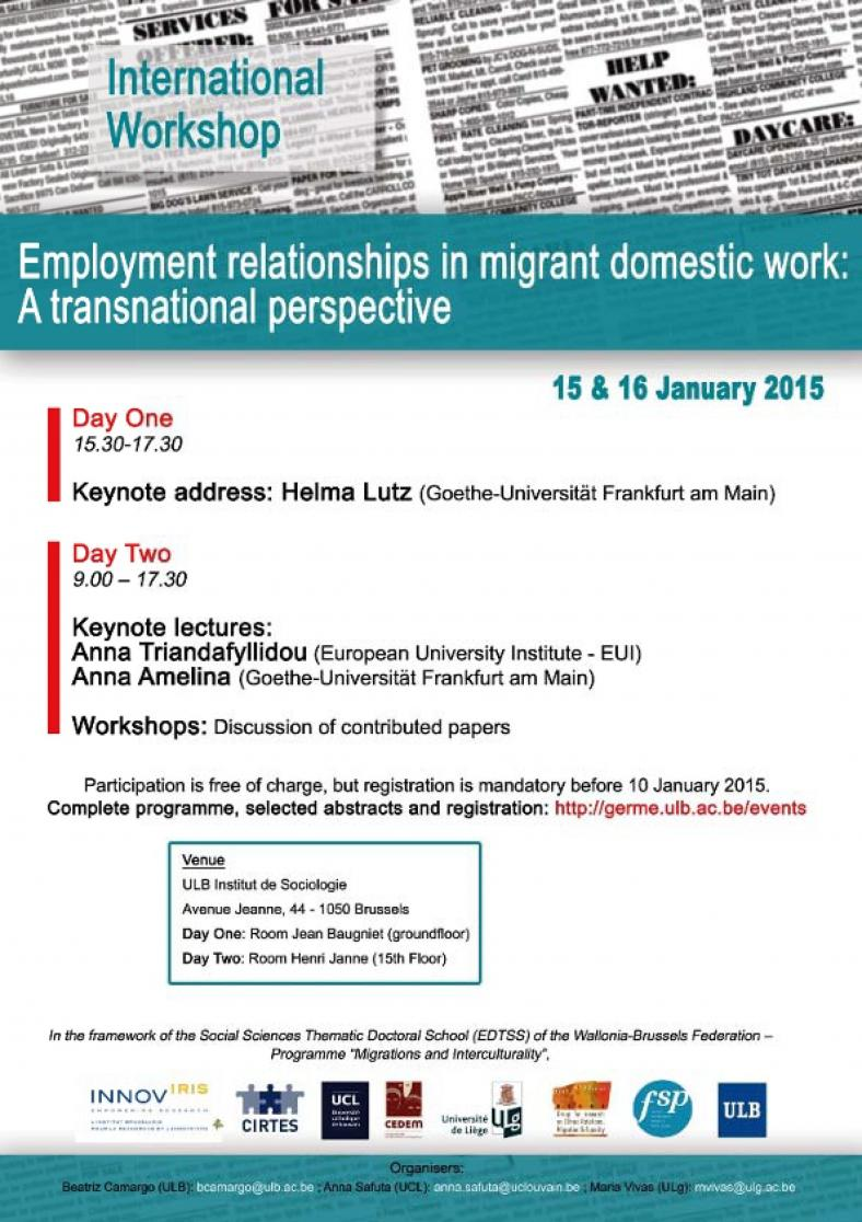 Employment relationships in Migrant Domestic Work: a transnational perspective